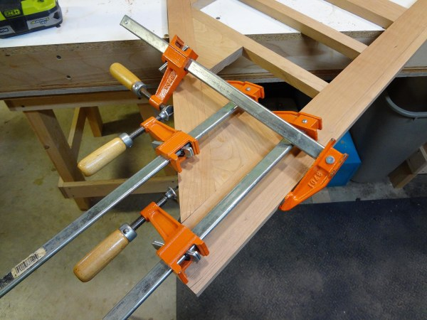 Clamps in place.