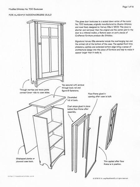 Bob Lang's modified Stickley no. 700 bookcase.