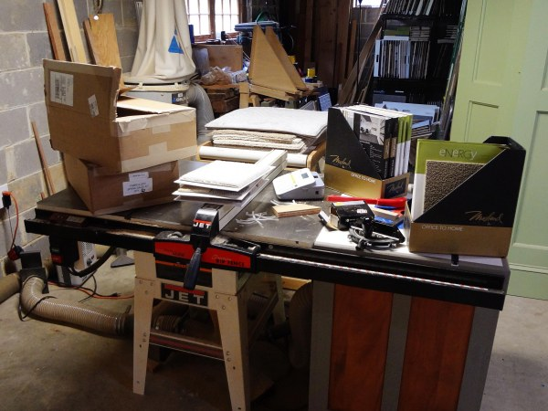 Here my table saw is functioning as just a table.