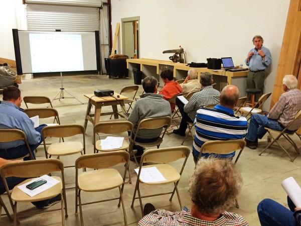 Bob Lang teaching SketchUp Friday night.
