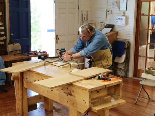 Making the through mortise jig.