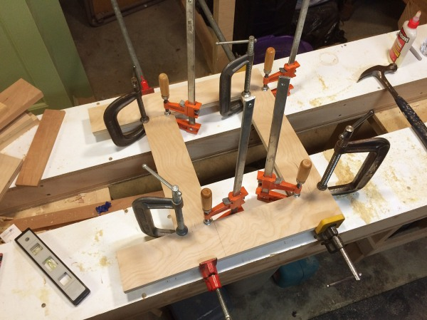 Lots of clamps.
