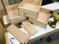 About to assemble drawer eight.