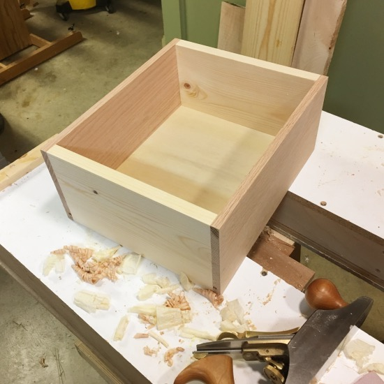 Drawer three completed and sides planed to fit.