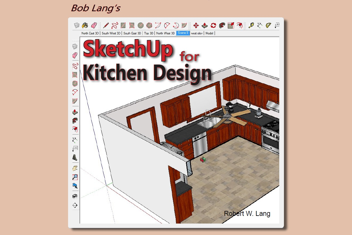 Build kitchen cabinets with bob lang s new sketchup book for Building kitchen cabinets book