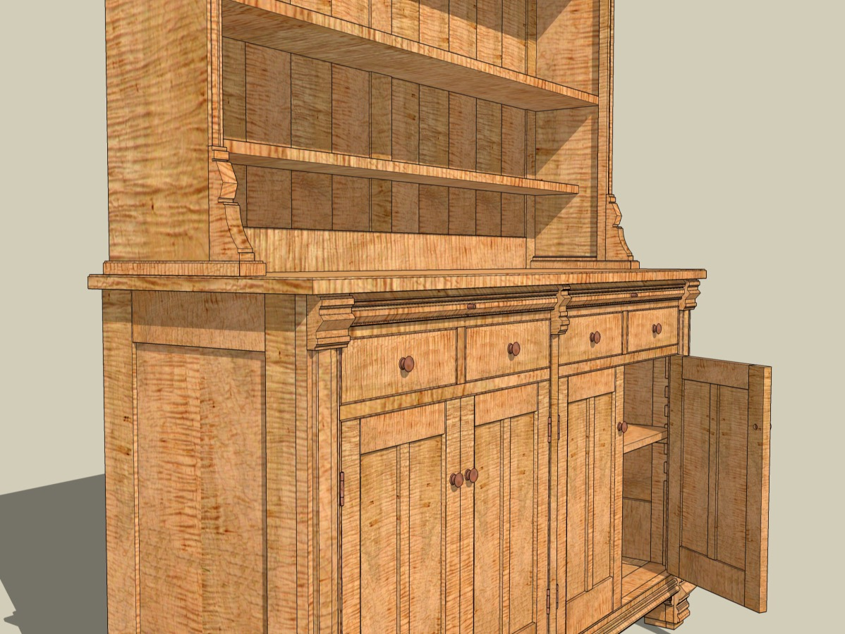 my sketchup models jeff branch woodworking