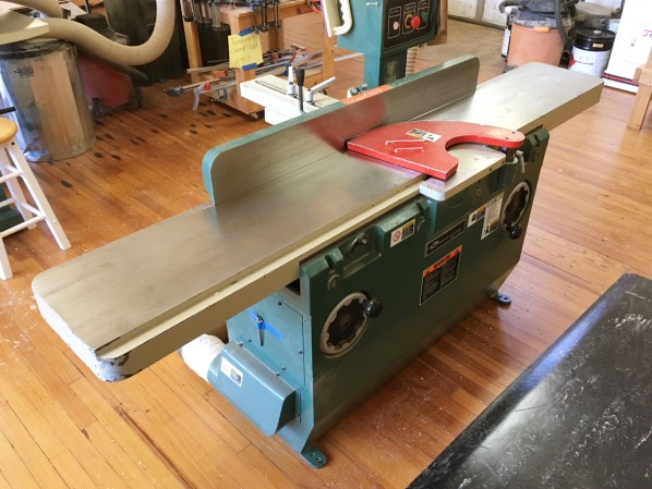 The Alabama Woodworkers Guild heavy-duty jointer.