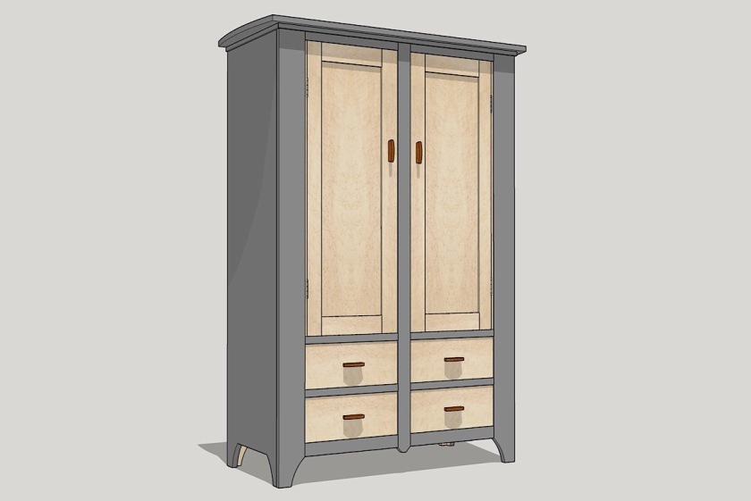 free woodworking plan build a modern kitchen cupboard jeff branch