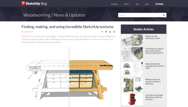 I Get Featured At SketchUp's Blog Jeff Branch Woodworking Enchanting Sketchup Furniture Design