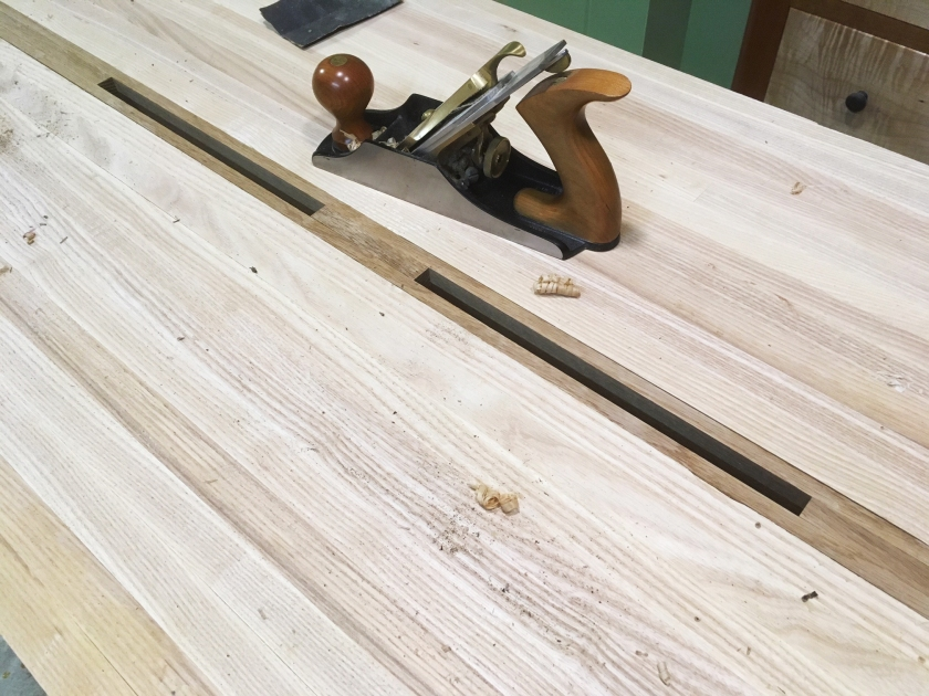 Moravian Workbench Attaching The Top Adding The Gap Stop