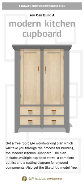 Free Woodworking Plan: Build a Modern Kitchen Cupboard